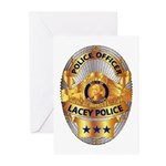 Lacey Police Greeting Cards (Pk of 10)