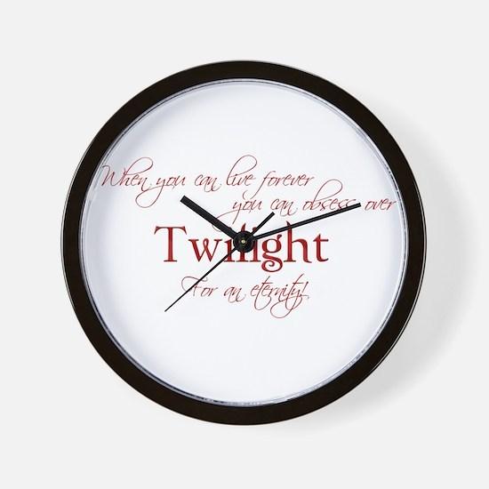 Cute Twilight obsessed Wall Clock