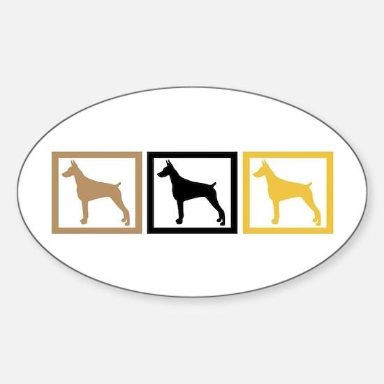 Doberman Pinscher Sticker (Oval)