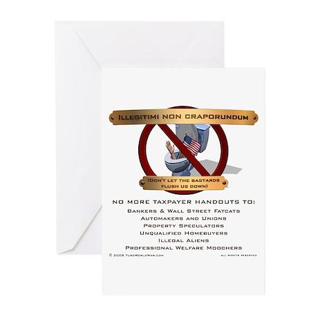 Illegitimi non craporundum Greeting Cards (Pk of 1