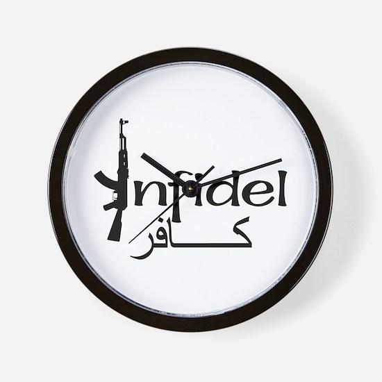 Infidel Ak47 (Arabic Text) Wall Clock