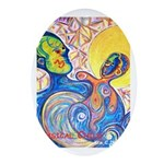 Whimsical Child Oval Ornament
