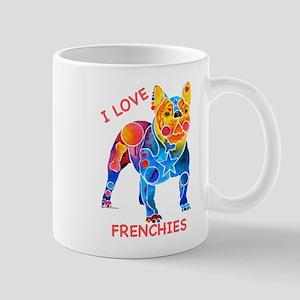 I Love French Bulldogs Mug