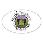 SFVH logo Oval Sticker (50 pk)