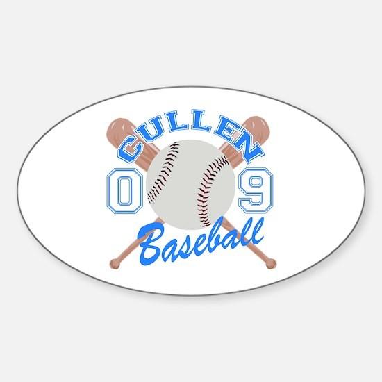 Cullen Baseball 09 Oval Decal