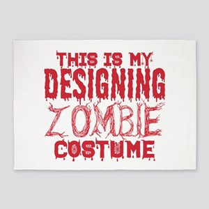 This Is My Designing Zombie Costume 5'x7'Area Rug
