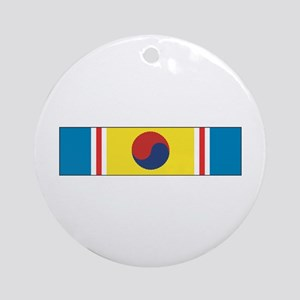 Korean War Service Ornament (Round)