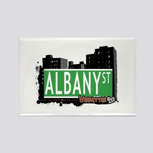 ALBANY STREET, MANHATTAN, NYC Rectangle Magnet
