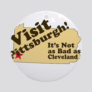 Visit Pittsburgh, It's Not as Ornament (Round)