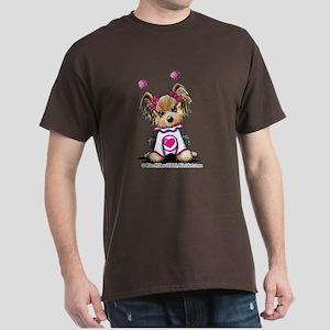 Love Bug Yorkie Dark T-Shirt