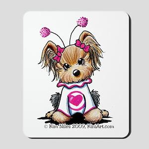Love Bug Yorkie Mousepad