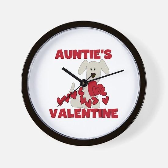 Dog Auntie's Valentine Wall Clock