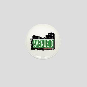 AVENUE D, MANHATTAN, NYC Mini Button