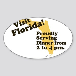Florida, Proudly Serving Dinn Oval Sticker