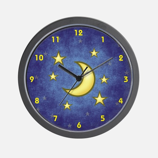 Stars and Moon Clock