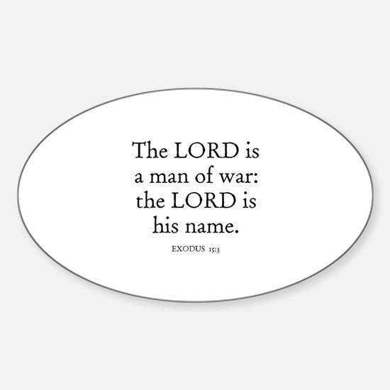 EXODUS 15:3 Oval Decal