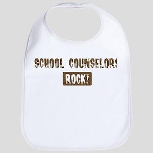 School Counselors Rocks Bib