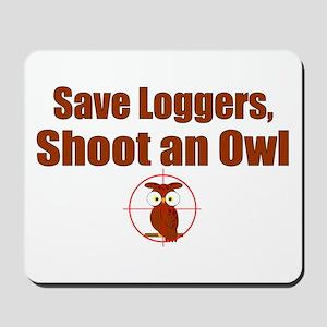 Shoot Owl Mousepad