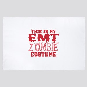 This Is My EMT Zombie Costume Hallowee 4' x 6' Rug