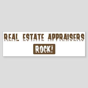 Real Estate Appraisers Rocks Bumper Sticker