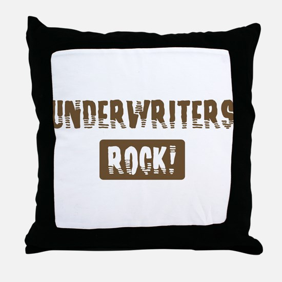 Underwriters Rocks Throw Pillow