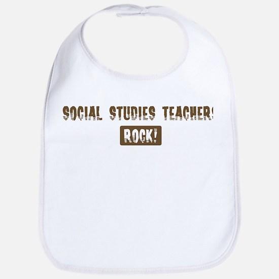 Social Studies Teachers Rocks Bib