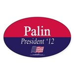 """Palin for President"" Oval Sticker"
