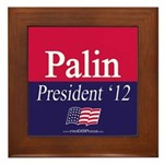 """Palin for President"" Framed Tile"