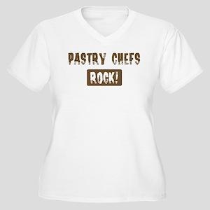 Pastry Chefs Rocks Women's Plus Size V-Neck T-Shir