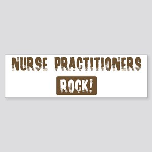 Nurse Practitioners Rocks Bumper Sticker