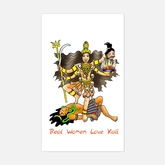 Real Women Love Kali Rectangle Decal