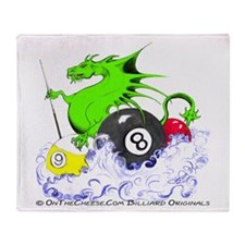 Pool Dragon Throw Blanket