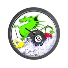 Pool Dragon Wall Clock