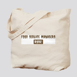 Food Service Managers Rocks Tote Bag