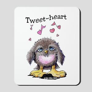 Tweet-heart Bird Mousepad