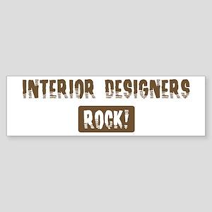 Interior Designers Rocks Bumper Sticker