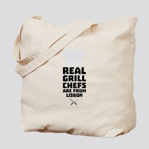 Real Grill Chefs are from Lisbon C90i2 Tote Bag