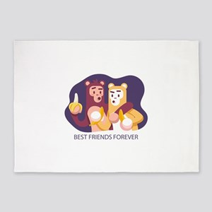 Best friends forever 5'x7'Area Rug