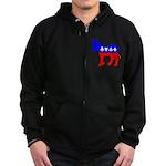 Donkey Poker Zip Hoodie (dark)