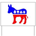 Donkey Poker Yard Sign