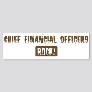 Chief Financial Officers Rock Bumper Sticker