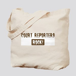 Court Reporters Rocks Tote Bag