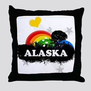 Sweet Fruity Alaska Throw Pillow