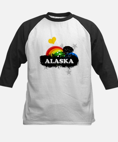 Sweet Fruity Alaska Kids Baseball Jersey
