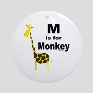 M IS FOR MONKEY Ornament (Round)