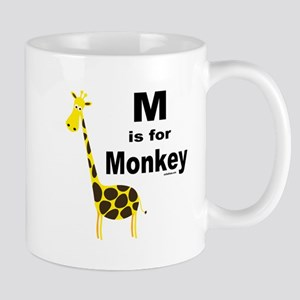 M IS FOR MONKEY Mug