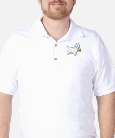 Westie Easter Golf Shirt