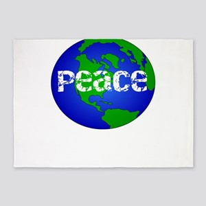 Save the Earth Peace on Earth Gift 5'x7'Area Rug