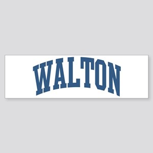 Walton Collegiate Style Name Bumper Sticker