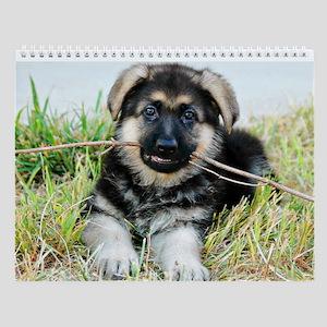 German Shepherd Puppy Calenda Wall Calendar